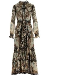 Etro Paisley Print Tiered Dress - Multicolour