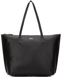 Furla Logo Shopper Tote - Black