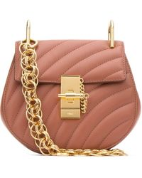 Chloé Quilted Mini Drew Bag - Pink