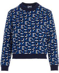 KENZO Monobram Sweater - Blue