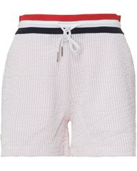 Thom Browne Seersucker Tricolour Striped Waistband Shorts - Pink
