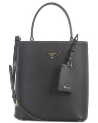 Prada Panier Medium Bucket Bag - Black