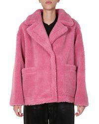 Stand Studio Marina Teddy Jacket - Pink