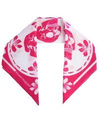 Alexander McQueen Motif Printed Scarf - Pink