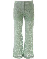 Valentino Heavy Lace Trousers - Green
