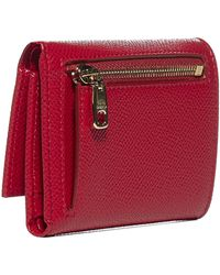 Dolce & Gabbana Logo-plaque Leather Bifold Wallet - Red