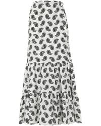 MSGM Paisley-print Wrap Skirt - Multicolour