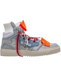 Off-White c/o Virgil Abloh Shoes High Top Trainers Trainers 3.0 Off Court - Metallic