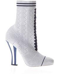 Fendi - Heeled Sock Boots - Lyst