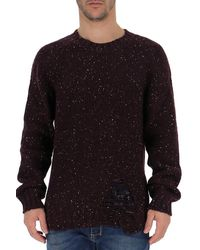 Maison Margiela Distressed Sweater - Red