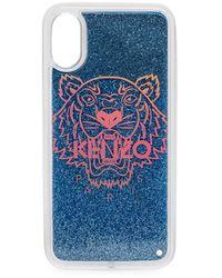 KENZO Tiger Glittered Iphone X/xs Case - Blue