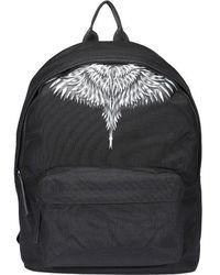 Marcelo Burlon Sharp Wings Print Backpack - Black