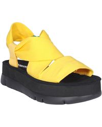 Camper Oruga Up Platform Sandals - Yellow