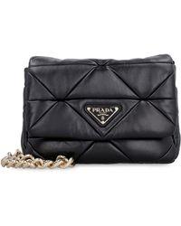 Prada System Leather Shoulder Bag - Black