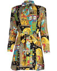 Moschino Graphic Printed Mini Dress - Multicolour