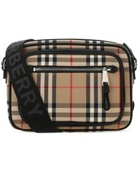 Burberry Paddy Messenger Bag Os Cotton,leather - Multicolour