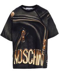 Moschino Biker T-shirt - Black