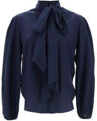 See By Chloé Blouse With Lavalliere - Blue