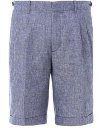 Z Zegna Straight Leg Bermuda Shorts - Blue