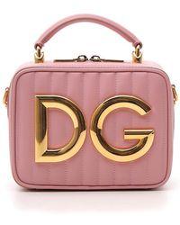 20eba8445a Dolce & Gabbana Logo Print Crossbody Bag in Red - Lyst