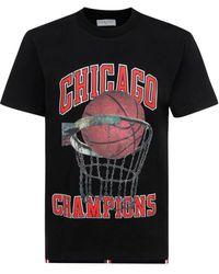 ih nom uh nit Chicago Champions Print T-shirt - Black