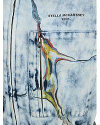 Stella McCartney Marble Effect Denim Jumpsuit - Blue