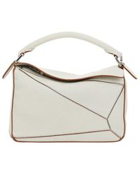 Loewe Puzzle Small Shoulder Bag - White