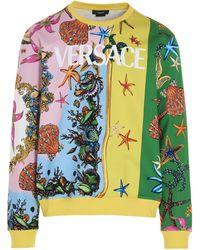 Versace Logo Graphic Print Sweatshirt - Multicolour
