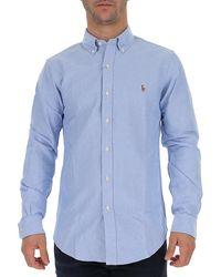 Ralph Lauren Logo Embroidered Shirt - Blue