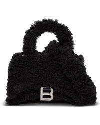 Balenciaga Fluffy Hourglass Black Handbag