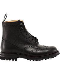 Church's Mc Farlane Lw Lace-up Brogue Boots - Black