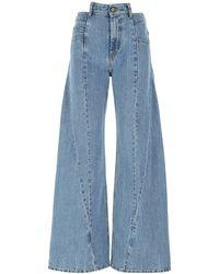 Maison Margiela Décortiqué Flared Jeans - Blue