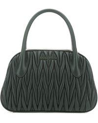 Miu Miu Matelassé Handbag - Green