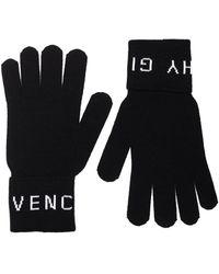 Givenchy Logo Intarsia Gloves - Black