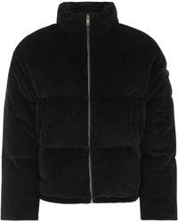 Prada Corduroy Down Jacket Uomo - Black