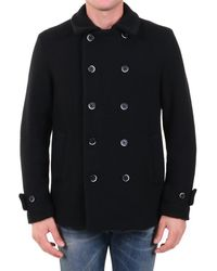 Barena Double-breasted Peacoat - Black