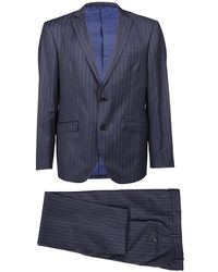 Etro Wool Suit - Blue