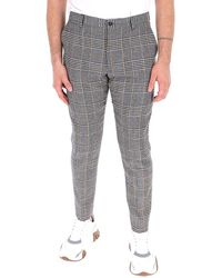 Dolce & Gabbana Plaid Tailored Trousers - Grey