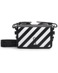 11cb591a0405 Lyst - Off-White c o Virgil Abloh Leather Diag Binder Clip Bag in Black