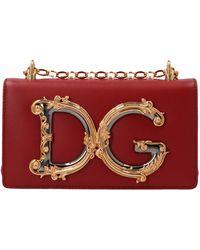 Dolce & Gabbana Dg Girls Crossbody Bag - Red