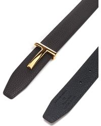 Tom Ford Leather Reversible Belt - Brown