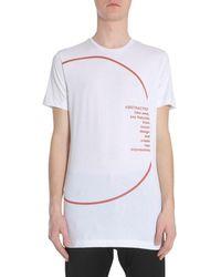 Diesel Black Gold Logo Print Crewneck T-shirt - White