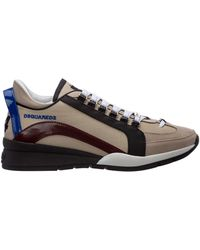 DSquared² Men's Shoes Leather Sneakers Sneakers 551 - Multicolour