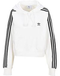 adidas Originals Adicolor Classics Crop Hoodie - White