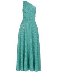 Missoni One-shoulder Draped Dress - Green