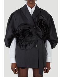 Simone Rocha Flower Appliqué Jacket - Black