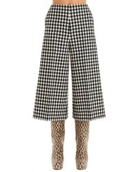 Gucci Houndstooth Culottes - Black