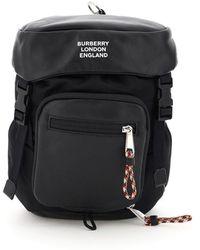 Burberry Leo One Shoulder Backpack - Black