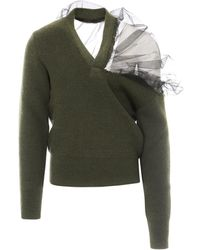 Maison Margiela Tulle Shoulder Jumper - Green