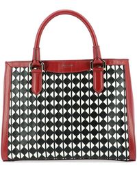 Serapian Small Lorelei Mosaico Tote Bag - Red